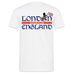 Keep Calm London Gator Club (White) - blue lettering - Men's T-Shirt