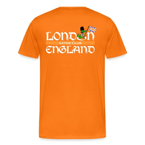 Keep Calm London Gator Club (color choice) - white lettering - Men's Premium T-Shirt