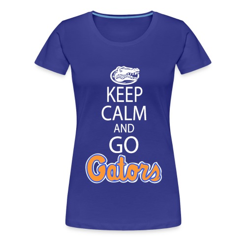 Keep Calm London Gator Club (Color choice) (Women's) - white lettering - Women's Premium T-Shirt