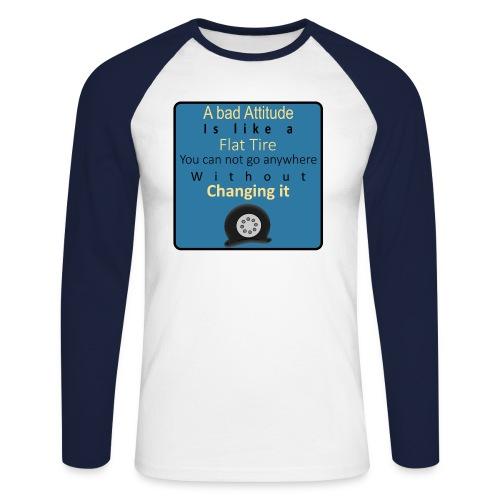 Langærmet herre-baseballshirt - Langærmet herre-baseballshirt