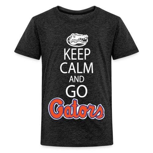 Keep Calm, *No Gator Club logo* (Color Choice) (Kids) - Teenage Premium T-Shirt