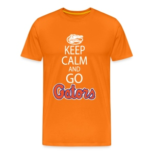 Keep Calm (Color Choice) *No Gator Club logo* Front only - white lettering - Men's Premium T-Shirt
