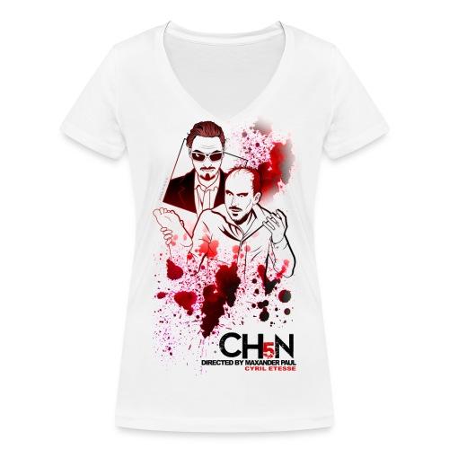 Tshirt Femme CH5N Cyril - T-shirt bio col V Stanley & Stella Femme