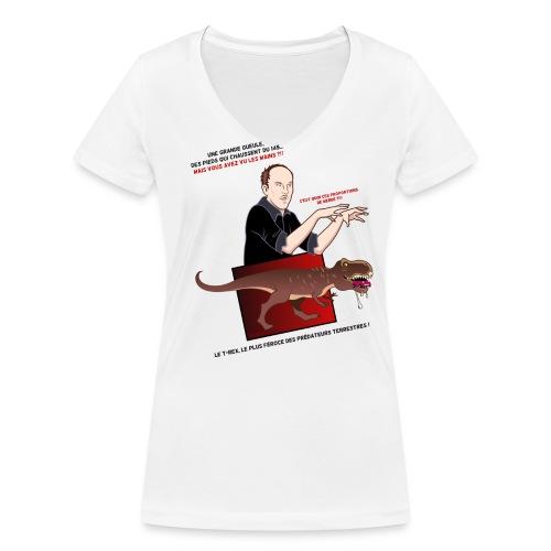 Tshirt Femme T-rex 2 - T-shirt bio col V Stanley & Stella Femme