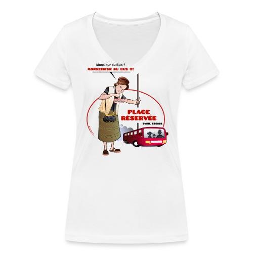 Tshirt Femme Place réservée - T-shirt bio col V Stanley & Stella Femme