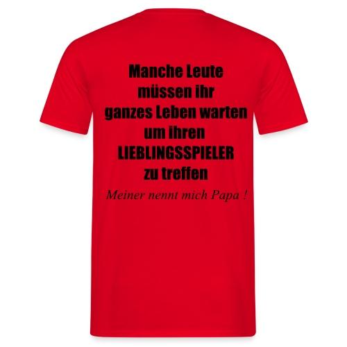 Stolzer Fußball Papa - Männer T-Shirt