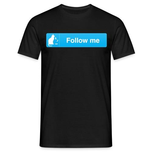TW button t-shirt - Cat - Men's T-Shirt