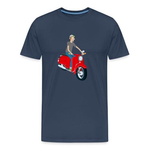 Comic mit roter Schwalbe - Männer Premium T-Shirt