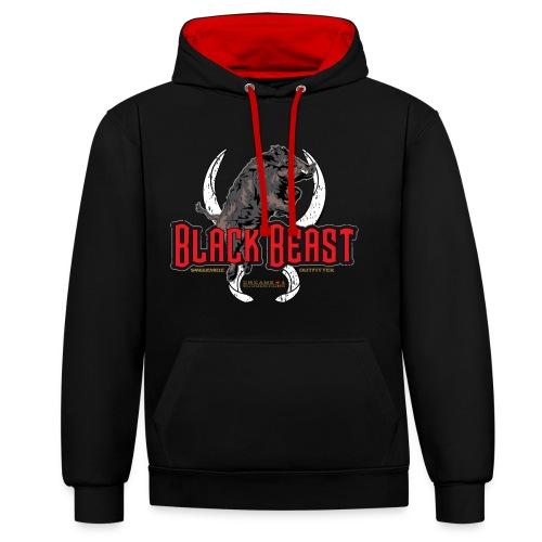 black beast boar - Felpa con cappuccio bicromatica