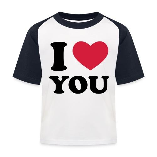 I love you - T-shirt baseball Enfant
