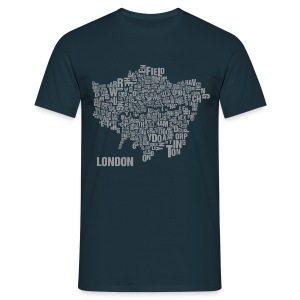 London Shirt Silver - Male - Männer T-Shirt