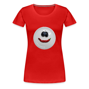 TIAN GREEN Shirt Women - Smiley - Frauen Premium T-Shirt