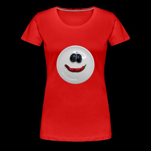TIAN GREEN Shirt Women - Smiley - Frauen Premium T-Shirt