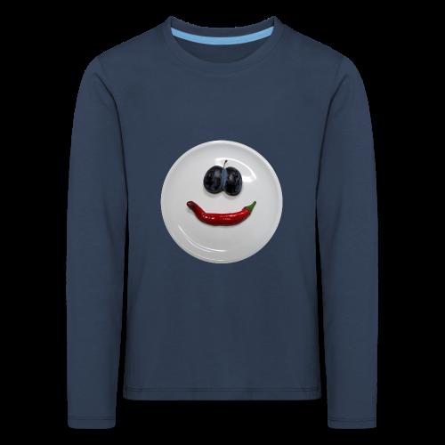 TIAN GREEN Long Shirt Kids - Smiley - Kinder Premium Langarmshirt