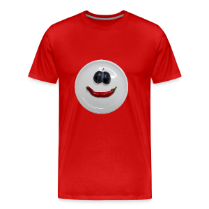 TIAN GREEN Shirt Men - Smiley - Männer Premium T-Shirt