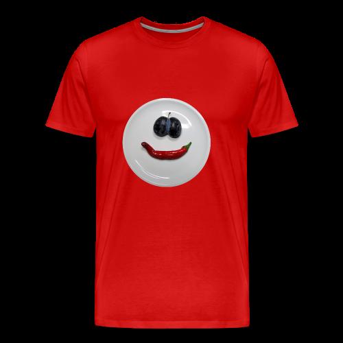 TIAN GREEN Shirt Men - Smiley - Männer Premium T-Shirt
