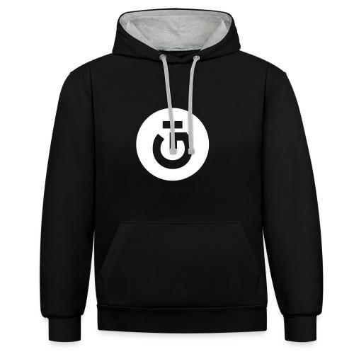 GÜ-Hoodie UNISEX | black - Kontrast-Hoodie