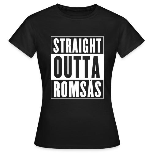 Straight Outta Romsås (dame t-skjorte) - T-skjorte for kvinner