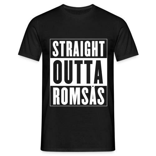 Straight Outta Romsås - T-skjorte for menn