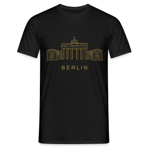 Brandenburger Tor Berlin (gold-metallic) - Männer T-Shirt