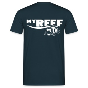 Mannen shirt dubbel logo - Mannen T-shirt