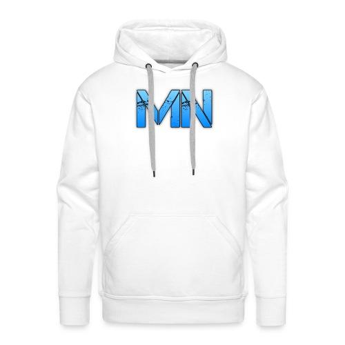 MN Mens White Hoodie - Men's Premium Hoodie