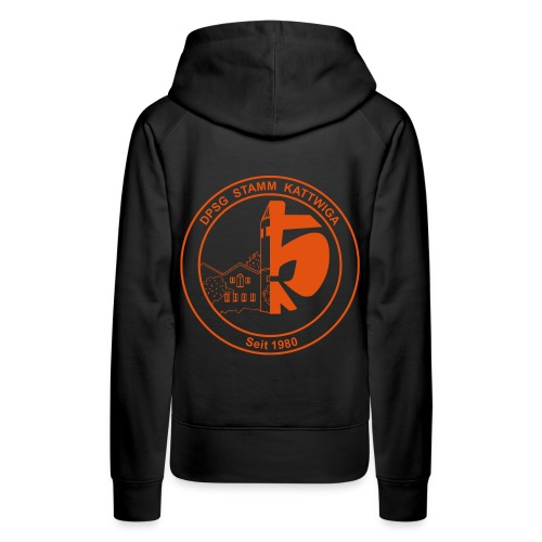 DPSG Kattwiga (Frauen) Kapuzenpullover Version 2 (Aufdruck Orange) - Frauen Premium Hoodie