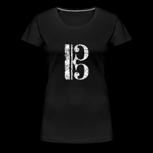 Altschlüssel, Tenorschlüssel (Vintage/Weiß) S-3XL T-Shirt - Frauen Premium T-Shirt