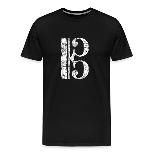 Altschlüssel, Tenorschlüssel (Vintage/Weiß) S-5XL T-Shirt - Männer Premium T-Shirt