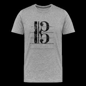 Tenorschlüssel (Vintage/Schwarz) S-5XL T-Shirt - Männer Premium T-Shirt