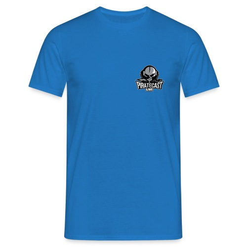 PirateCast Blue Pocket Logo Shirt - Men's T-Shirt