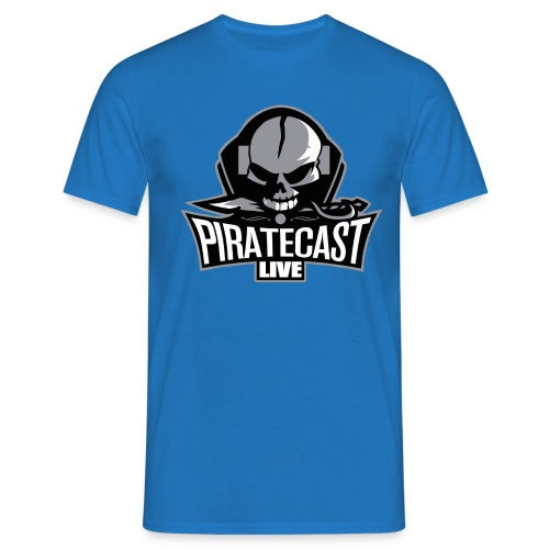 PirateCast Blue Logo Shirt - Men's T-Shirt