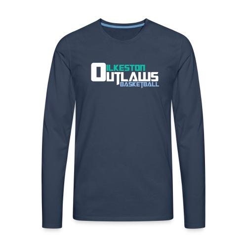 Men's Outlaws Navy Longsleeve  - Men's Premium Longsleeve Shirt