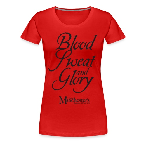 Women's 'Blood, Sweat & Glory' double-sided (red) - Women's Premium T-Shirt