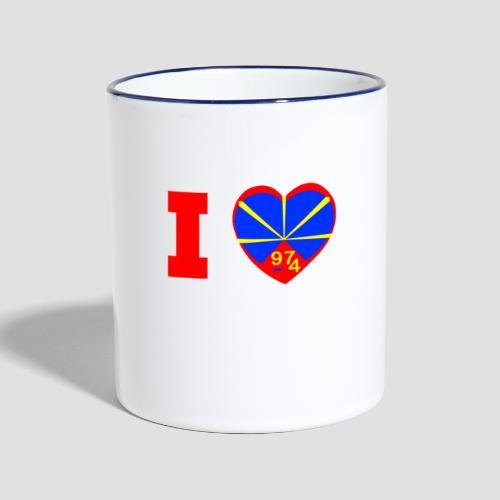 Tasse bicolore I love 974 - Lo Mahaveli - Mug contrasté