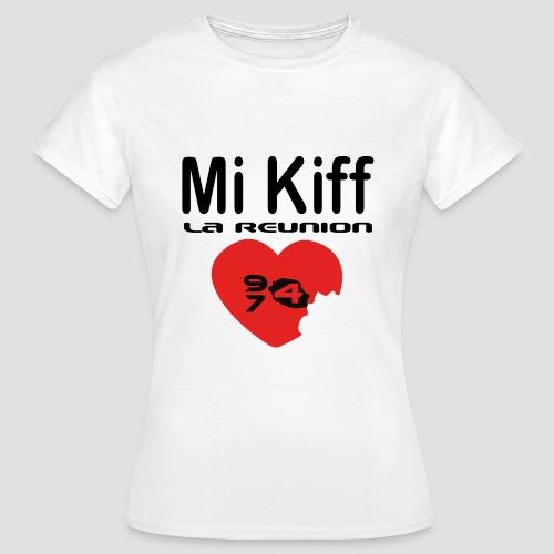 Tee shirt Femme Mi kiff la réunion - T-shirt Femme