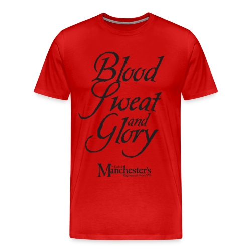 Men's 'Blood, Sweat & Glory' double-sided (red) - Men's Premium T-Shirt