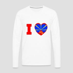 Tee shirt manches longues Premium Homme I love 974 - Lo Mahaveli - T-shirt manches longues Premium Homme