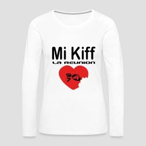 Tee shirt manches longues Premium Femme Mi kiff la réunion - T-shirt manches longues Premium Femme