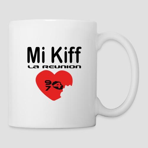 Tasse Mi kiff la réunion - Mug blanc