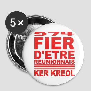 Badge moyen 32 mm fier d'etre réunionnais - Badge moyen 32 mm