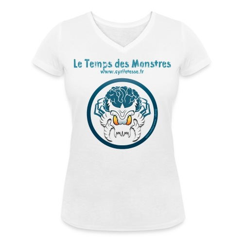 Tshirt Femme le Temps des monstres - T-shirt bio col V Stanley & Stella Femme