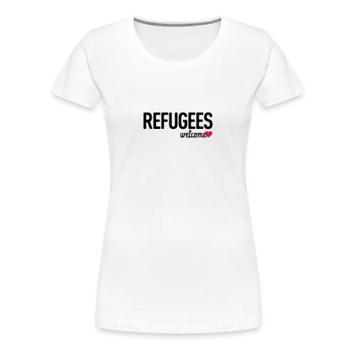 Refugees Welcome - Frauen Premium T-Shirt