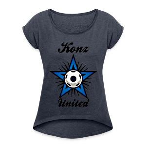 United Frauen-Top - Frauen T-Shirt mit gerollten Ärmeln