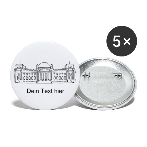 Bundestag in Berlin - Buttons groß 56 mm (5er Pack)
