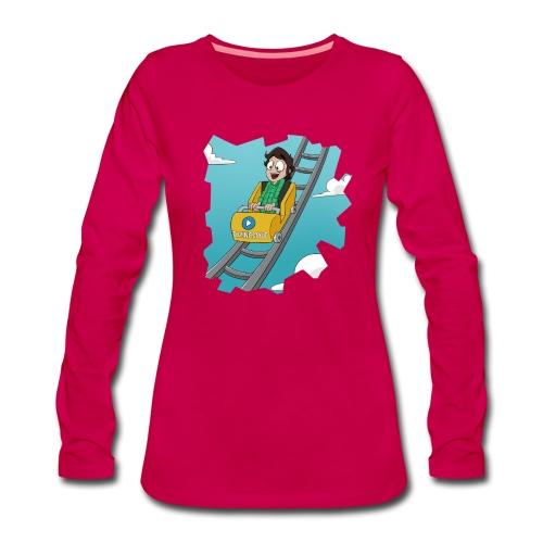 Achtbaan Lange Mouwen (VROUW) - Davincstyle - Vrouwen Premium shirt met lange mouwen