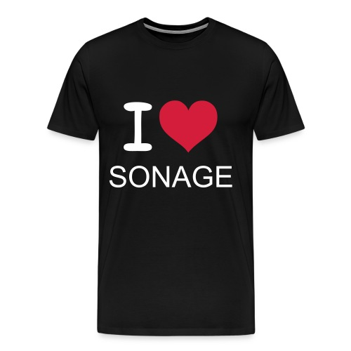 I LOVE SONAGE T-Shirt - black - Men's Premium T-Shirt