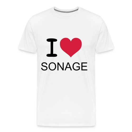 I LOVE SONAGE T-Shirt - white - Men's Premium T-Shirt