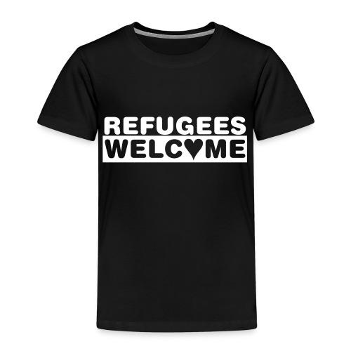 Kinder Premium T-Shirt - Zeige Deine Solidarität mit Flüchtlingen, lebe die Willkommenskultur - Refugess Welcome - Flüchtlinge willkommen!