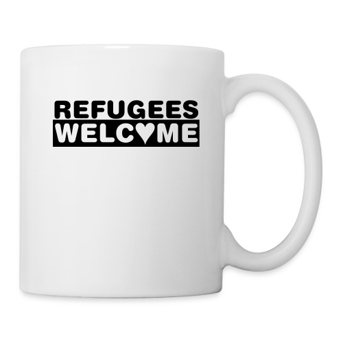 Refugees Welcome - Becher (weiss) - Tasse